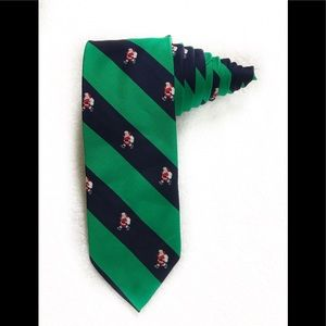 Jenss Christmas Santa Claus Green Diagonal Tie
